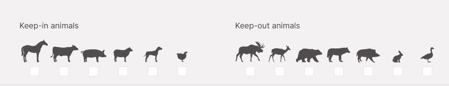 Животные, которых (от которых) защитит электроограждение