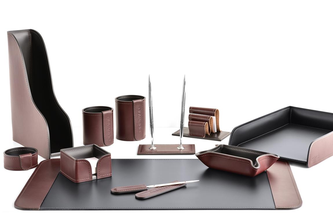 настольный набор руководителя brown шоколад с фигурным лотком vip