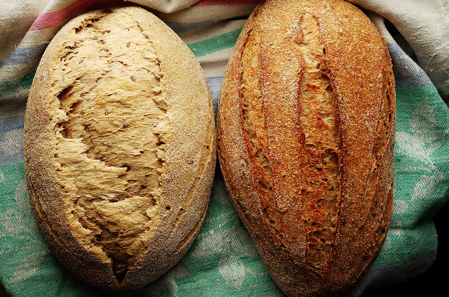 хлеб без пара и с паром