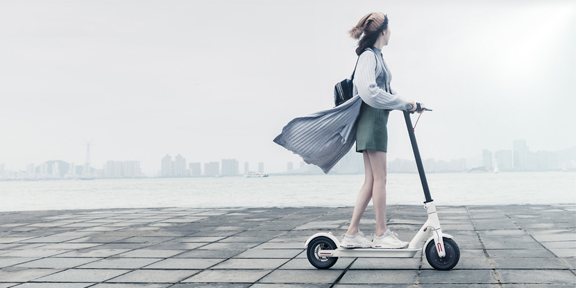Электросамокат Xiaomi MiJia M365 Electric Scooter (черный)