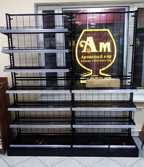 сетчатые стеллажи для магазина Ароматный мир