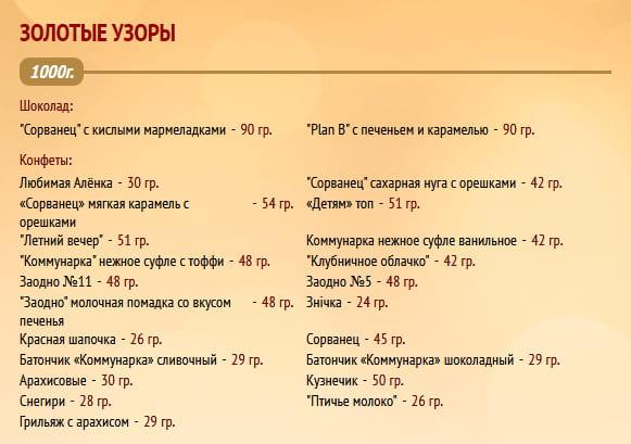 """Новогодний подарок """"Золотые узоры"""" 1000г. Коммунарка"""