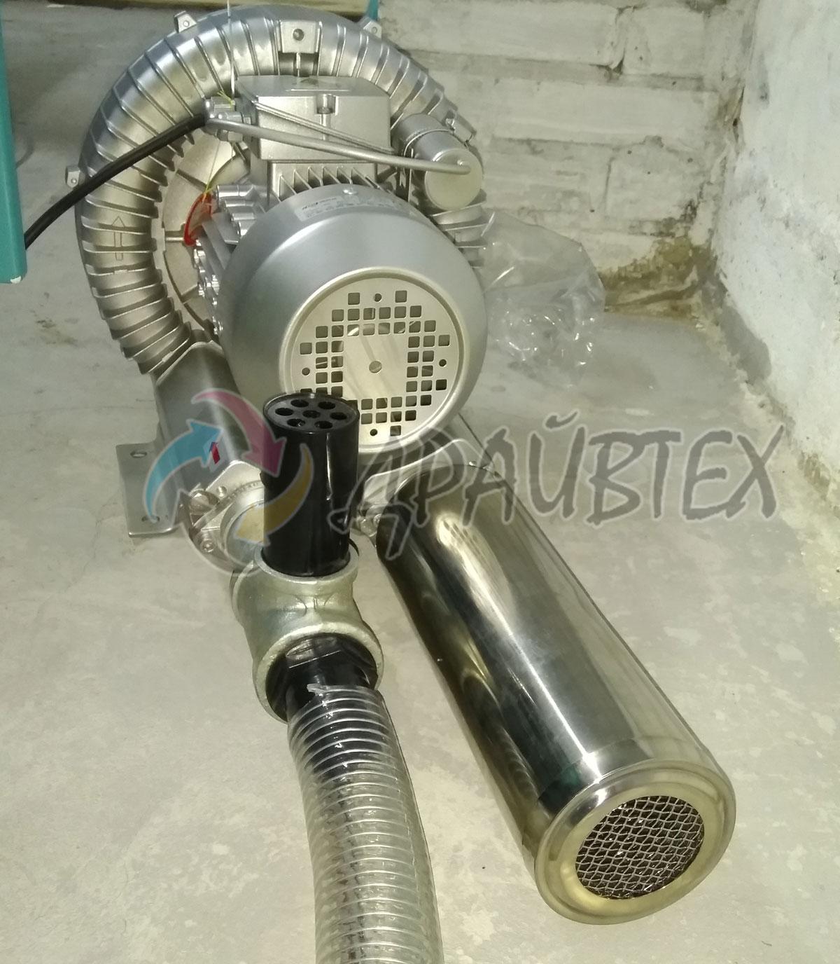 Вихревой насос с глушителем и клапаном защиты от перегрузки