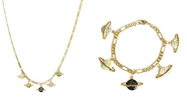 украшения из латуни с эмалью Saturn от Apres Ski
