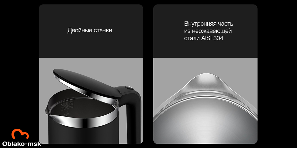 Электрочайник Xiaomi Viomi Smart Kettle Bluetooth Pro (черный)