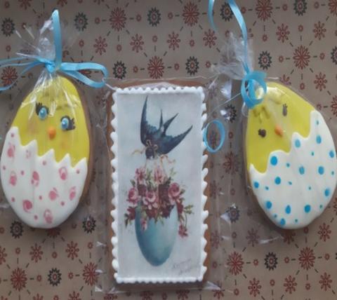 Безглютеновый подарочный пасхальный набор 2 птенца и открытка «Благая весть»
