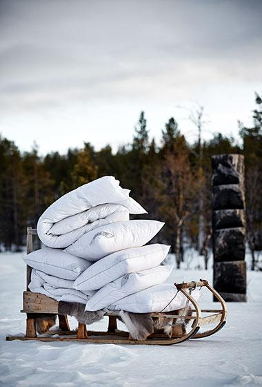 Пуховые подушки и одеяла Joutsen производятся в Финляндии