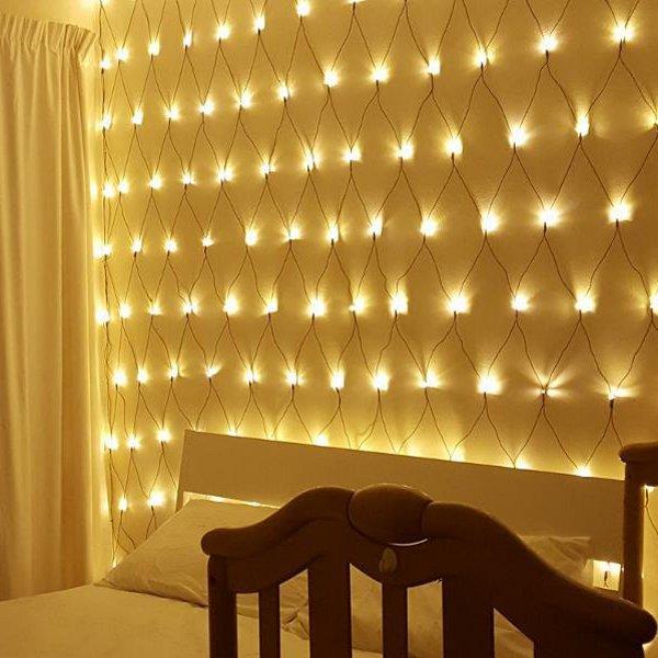 LED cветодиодная гирлянда сеть 2 на 2 метра 320 лед LED