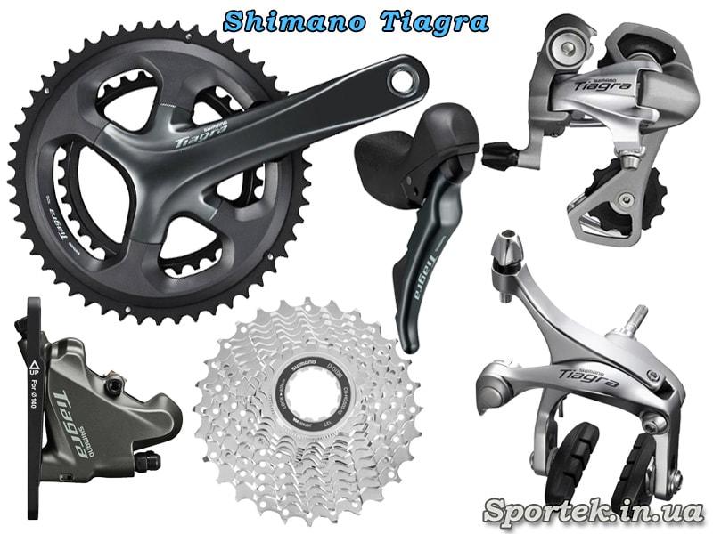 Обладнання Shimano Tiagra для шосейного велосипеда