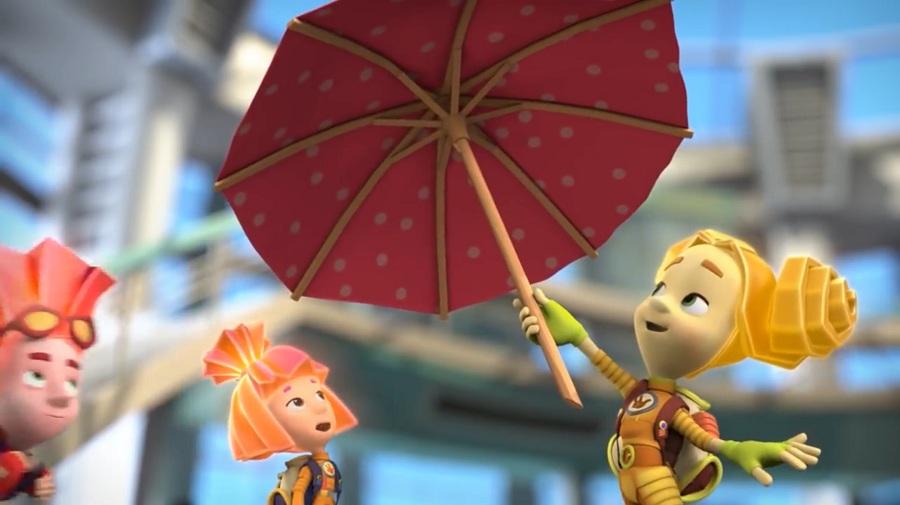 Мультфильм фиксики об истории зонта