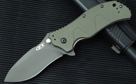 Нож KAI Aluminum Handle Green (0350GRN)