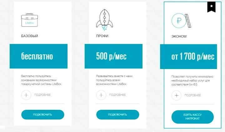 Тарифные планы программы складского учета LiteBox