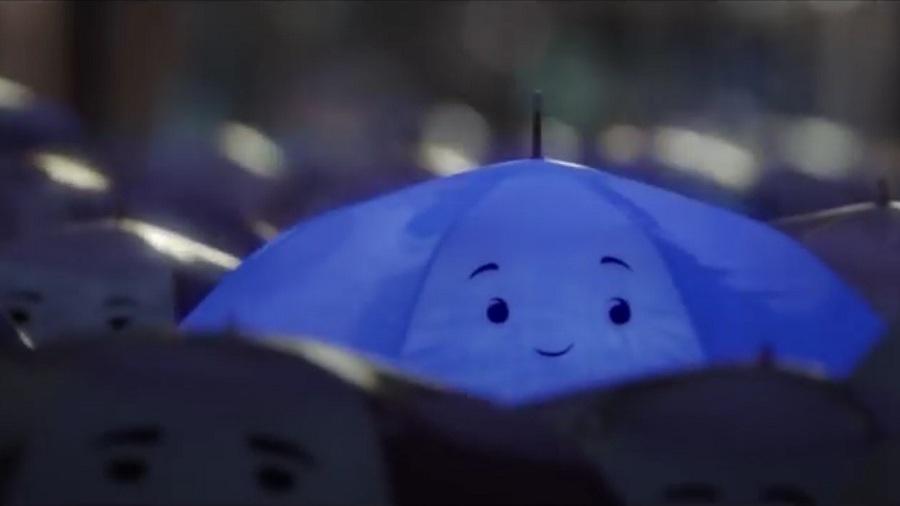 Мультик синий зонтик Пиксар