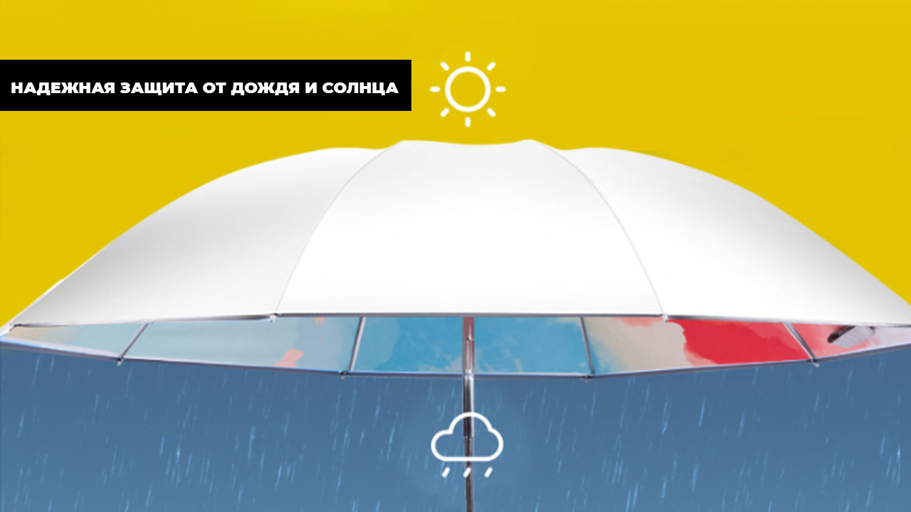 Зонт складной автомат оранжево-голубой | ZC ALOYSIUS