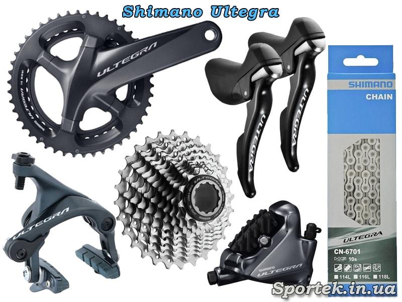 Обладнання Shimano Ultegra для шосейного велосипеда