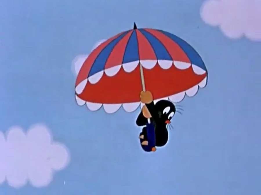 Мультфильм крот и зонтик