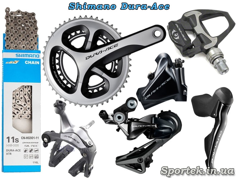 Обладнання Shimano Dura-Ace для шосейного велосипеда