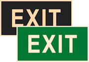 знаки фотолюминесцентные эвакуационные Е25 Указатель EXIT