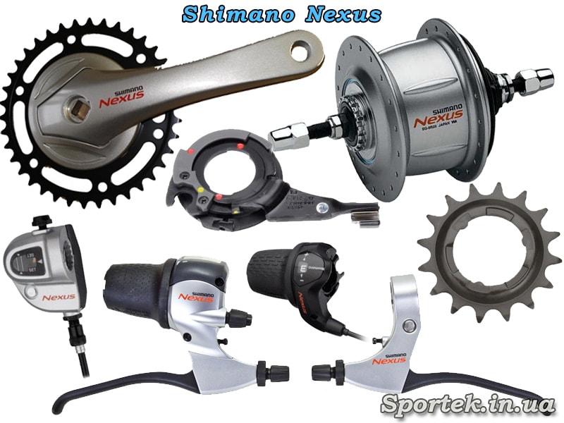 Оборудование Shimano Nexus для городского велосипеда