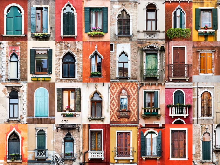 Венеция окна.