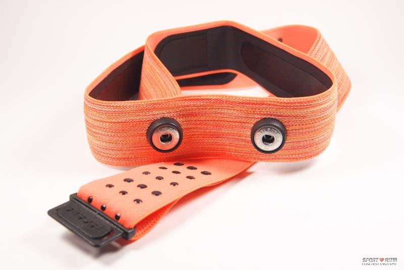 Ремешок для нагрудного пульсометра оранжевого цвета