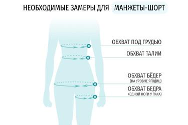 Размеры антицеллюлитных шорт