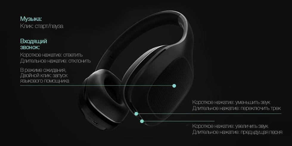 Накладные наушники Xiaomi Mi Bluetooth Monitor Headphones aptX