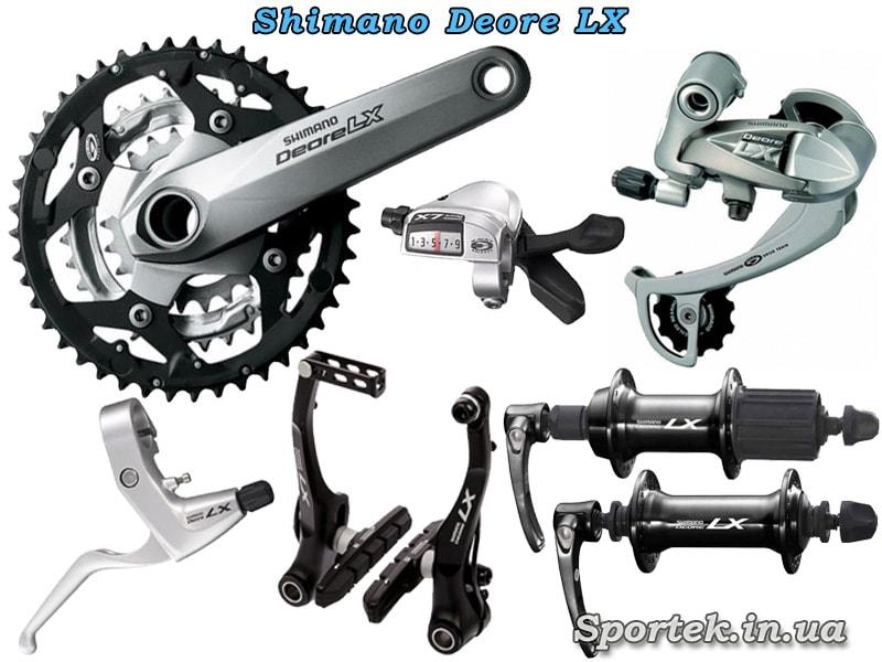Обладнання Shimano Deore LX для туристичного велосипеда