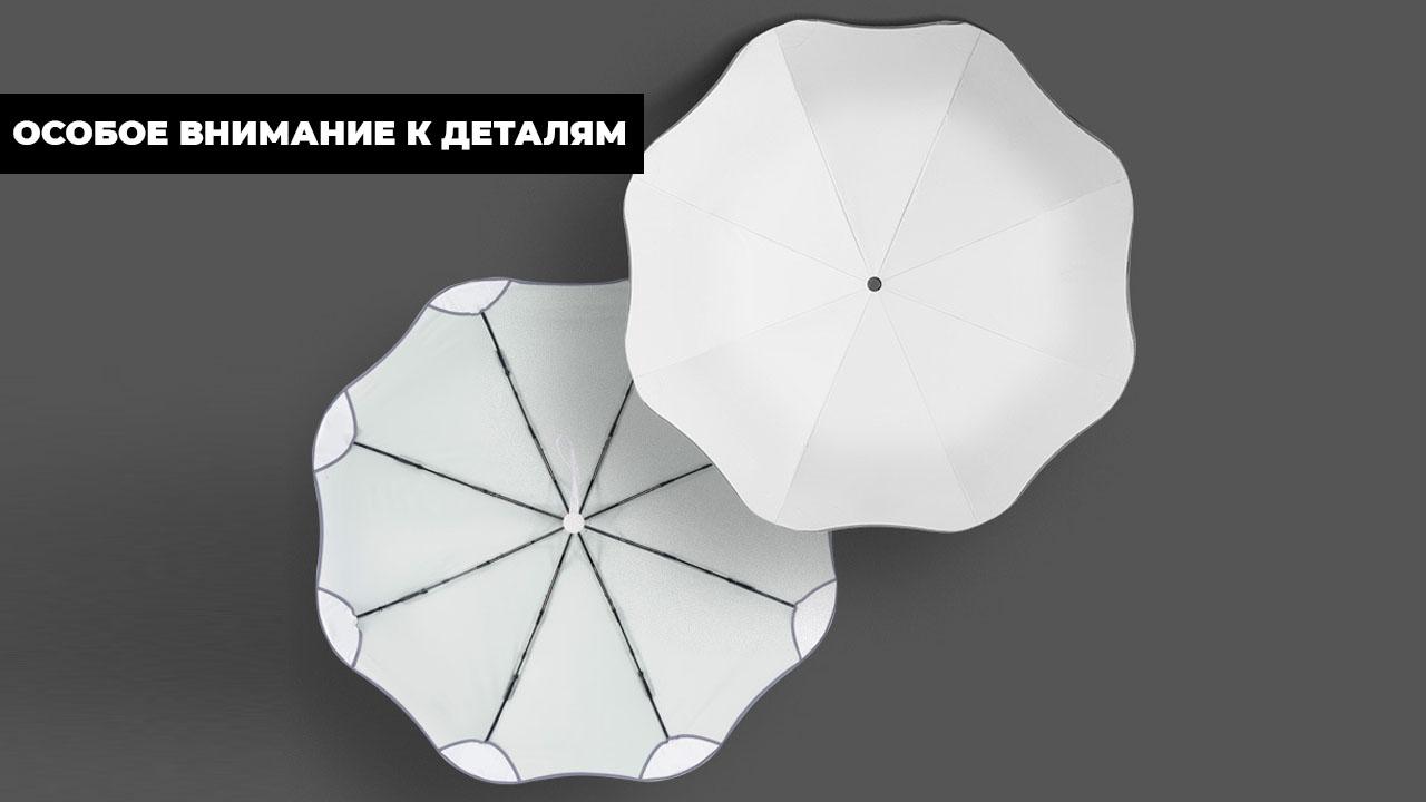Складной зонт автомат молочно-белый | Schulz design