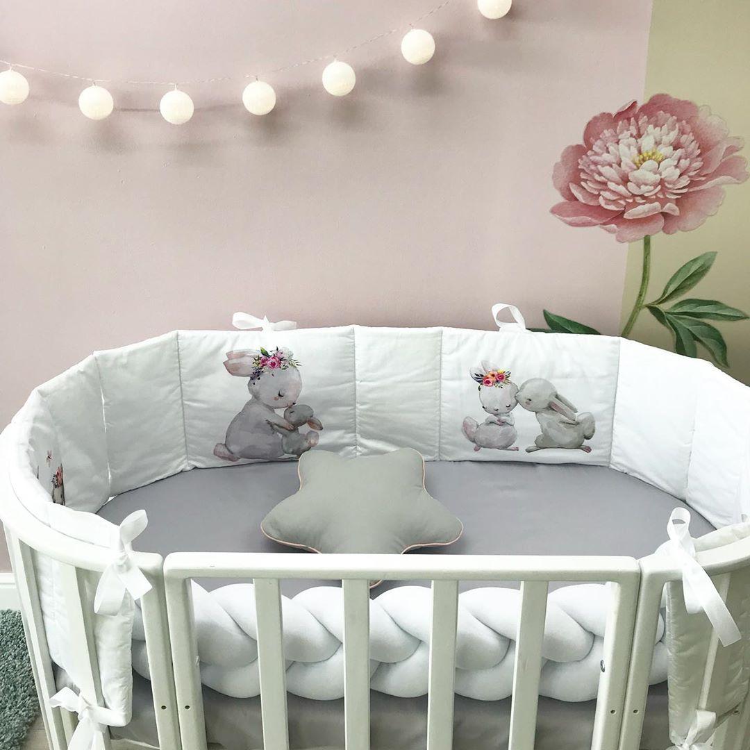 Плоские бортики в кроватку новорожденному