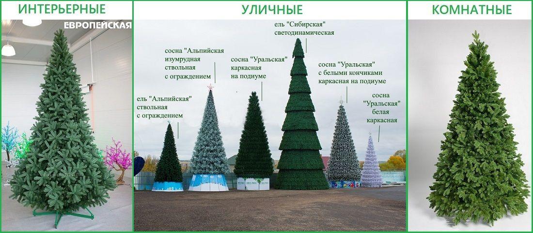 большие искусственные елки