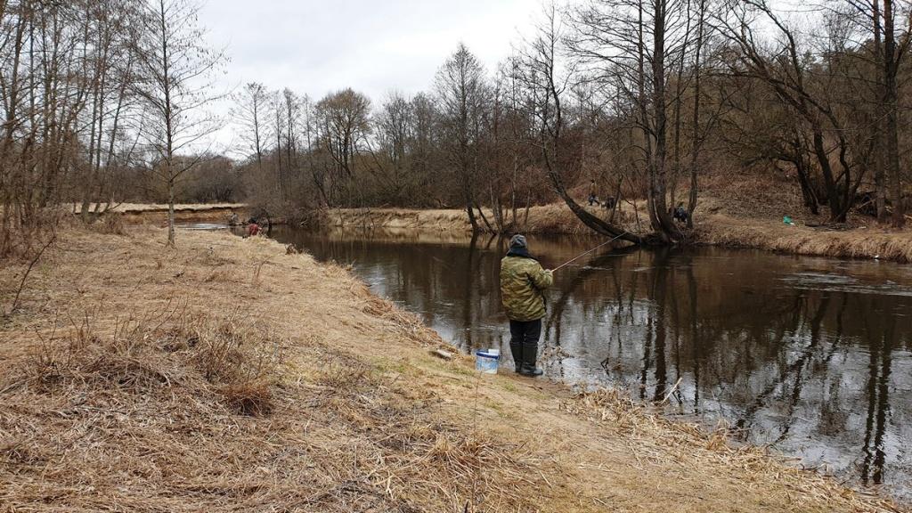 рыбалка с болонкой на реке ранней весной  00003.JPG