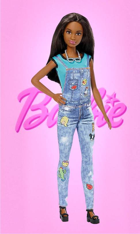 Барби - Эмодзи, брюнетка