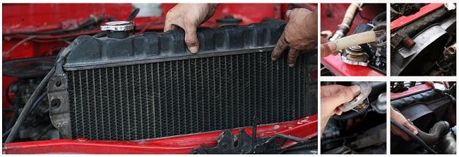 Демонтаж радиатора автомобиля