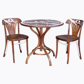 стол стулья расписанные в технике аэрографии