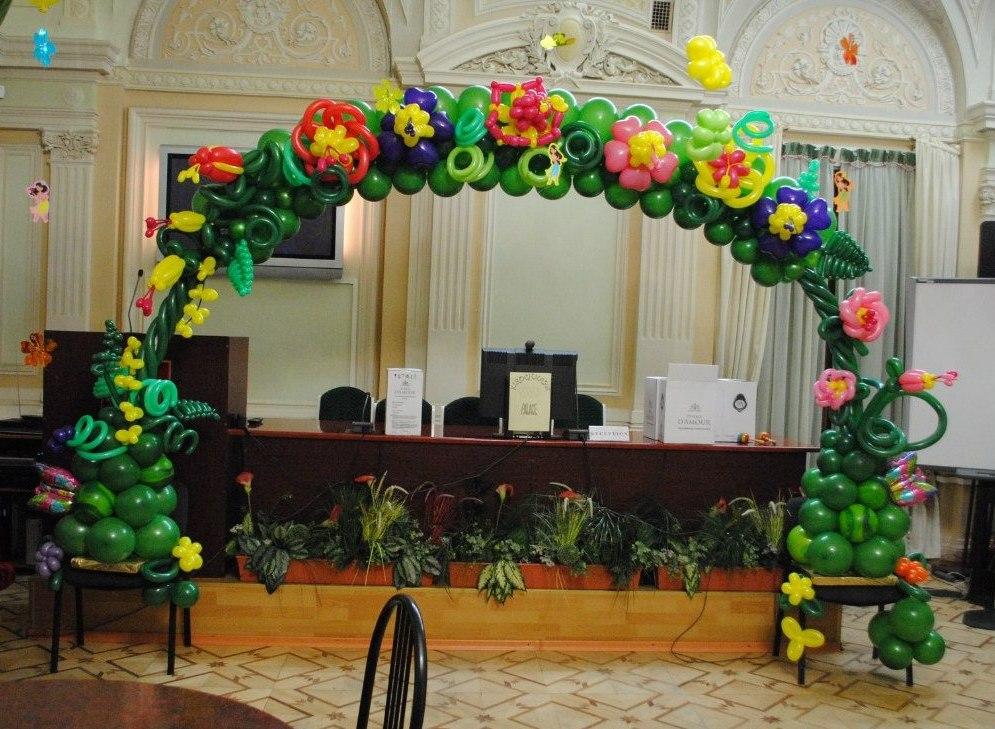 арка из шаров на детский день рождения