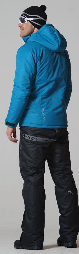 NSM422515 Утеплённый прогулочный лыжный костюм Motion Marine-Black  - SkiRunner.ru