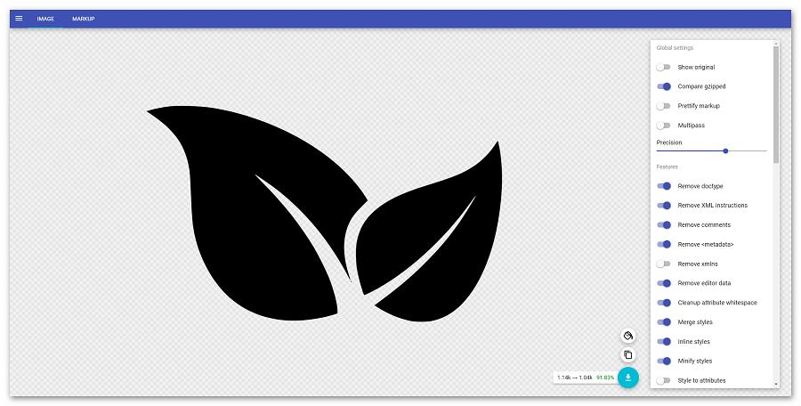Работа с изображением в SVGOMG