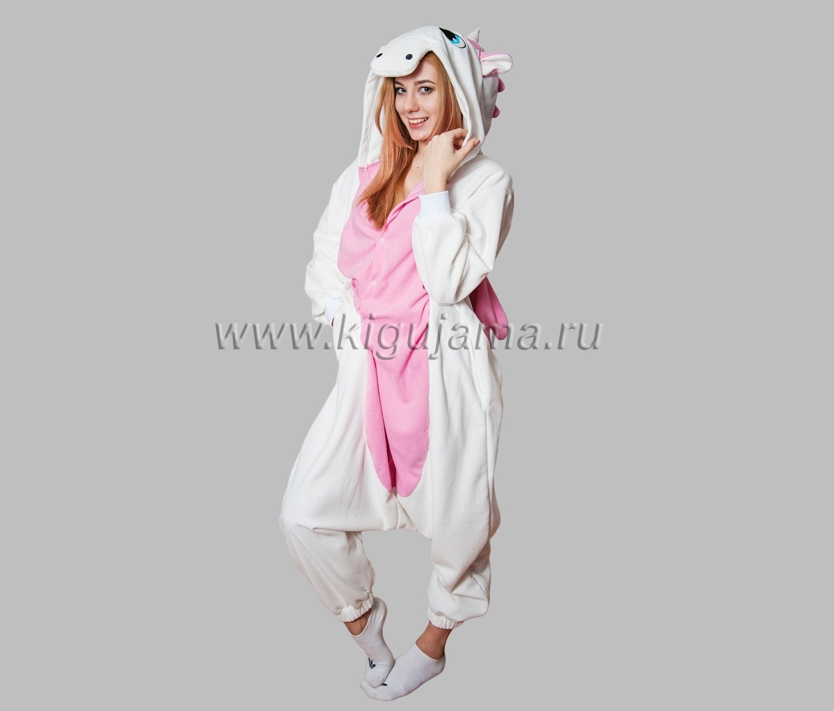 Купить пижамы кигуруми единорог розовый для взрослых