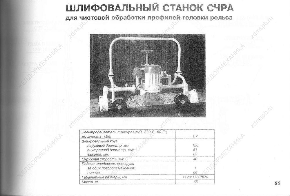 Стр. 88 Шлифовальный станок СЧРА