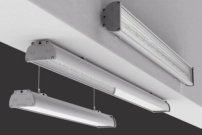Аварийные светодиодные светильники для промышленных предприятий серии Iron EM 600 IP67 можно устанавливать к потолку, на стены, к потолку на подвесах