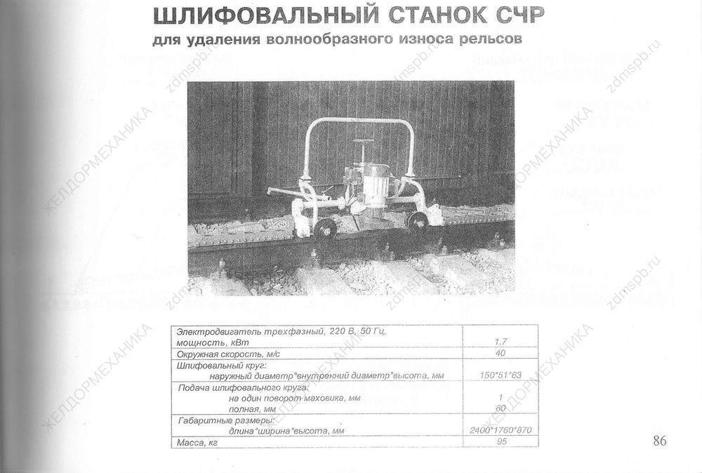 Стр. 86 Шлифовальный станок СЧР