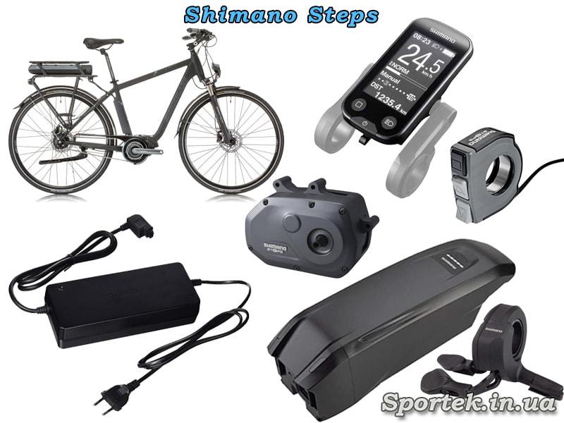 Оборудование Shimano Steps для электрических велосипедов