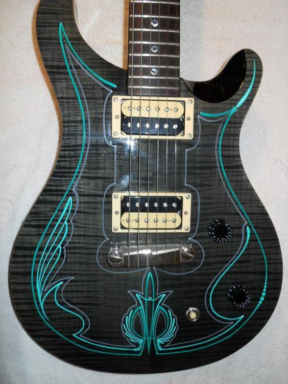 пинстрайпинг на гитаре