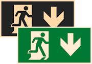 фотолюминесцентные знаки безопасности Е39 Указатель двери эвакуационного выхода (правосторонний)
