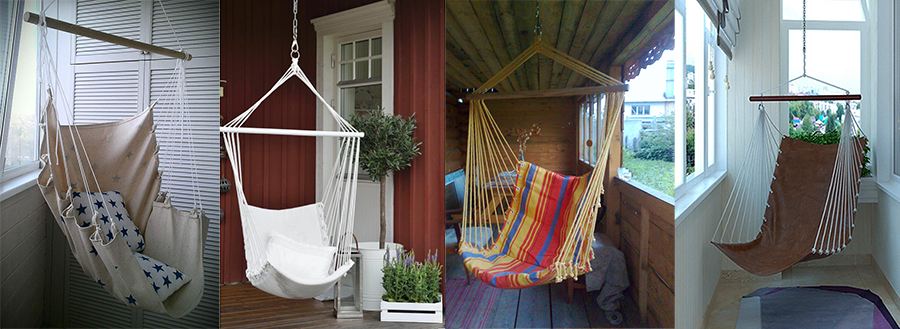 Кресло-гамак в доме