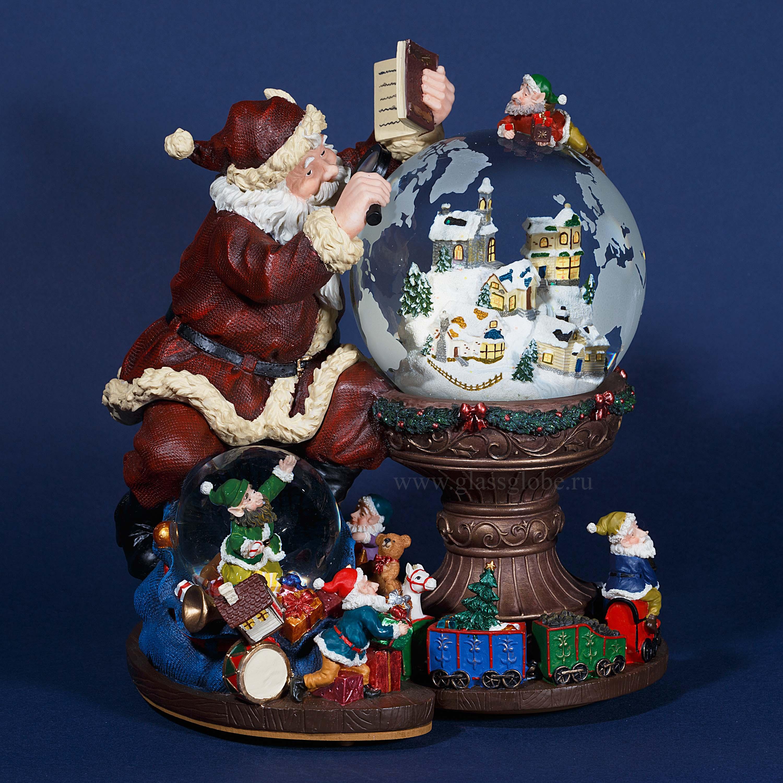 Новогодний стеклянный шар со снегом купить
