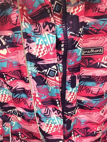 Зимний комбинезон Premont Северное сияние Юкона для девочек с ветрозащитной планкой в Premont-shop