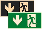 фотолюминесцентные знаки безопасности Е40 Указатель двери эвакуационного выхода (левосторонний)