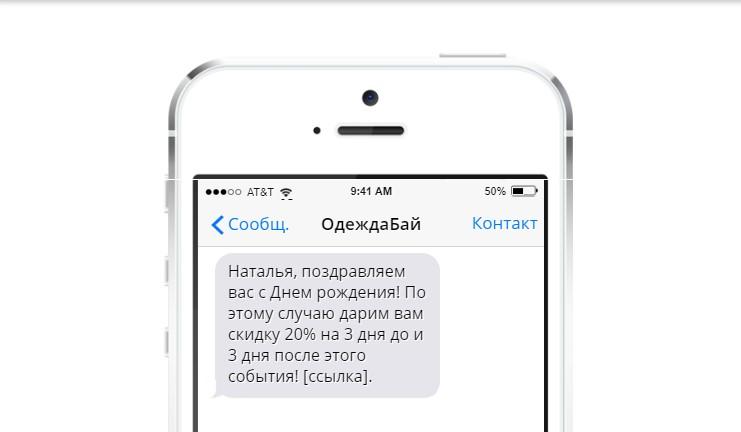 Персонализированное СМС-сообщение